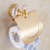 Space Alumium Bathroom Roll Paper Rack Vintage Antique Toilet Paper Holder Shelf Gold Retro Kitchen Tissue