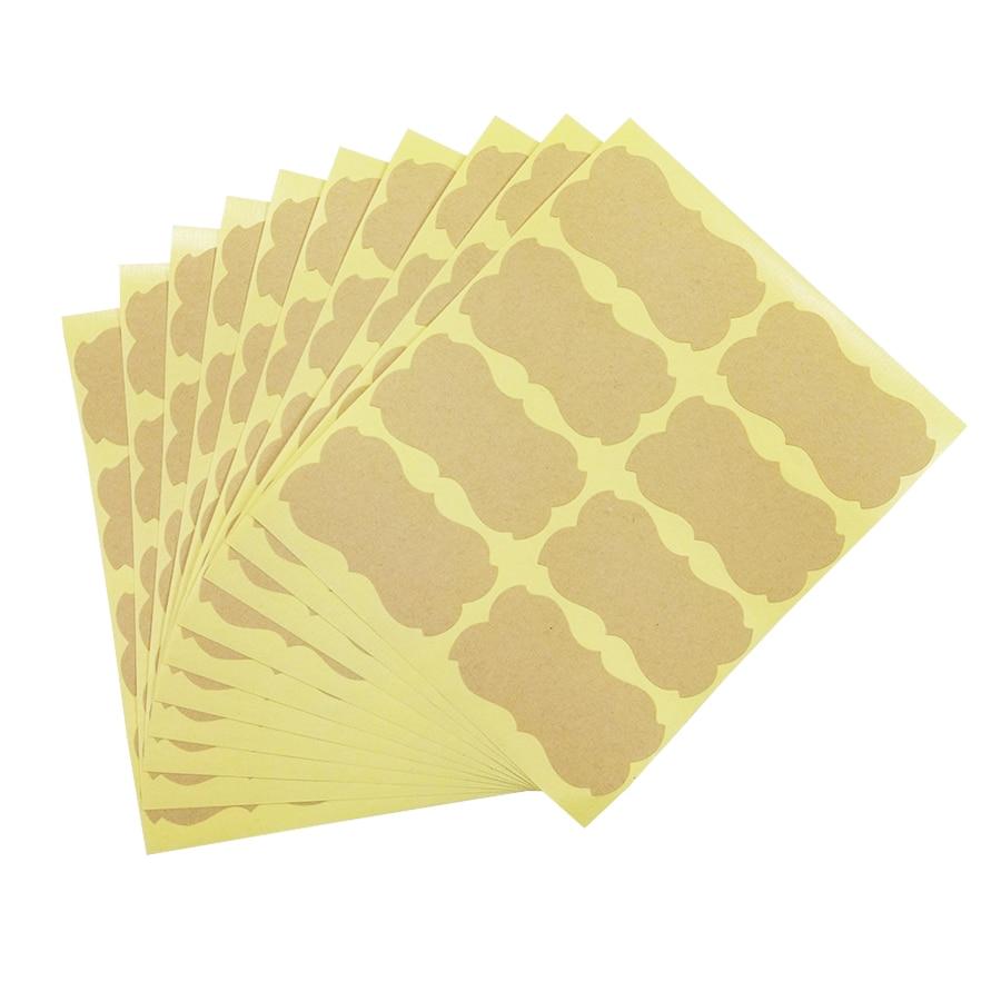 80 Pcs/lot Handmade Sticker Vintage Blank Kraft Label Sticker DIY Hand Made For Gift Cake Baking Sealing Sticker