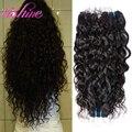 Перуанский Волна Воды 3 Связки Перуанской Океанская Волна Волос Вьющиеся Переплетения Человеческих Пучки Волос Tissage Перуанский Девственные Волосы Вьющиеся