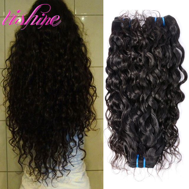 Peruvian Water Wave 3 Bundles Peruvian Ocean Wave Hair Curly Weave Human Hair Bundles Tissage Peruvian Virgin Hair Curly