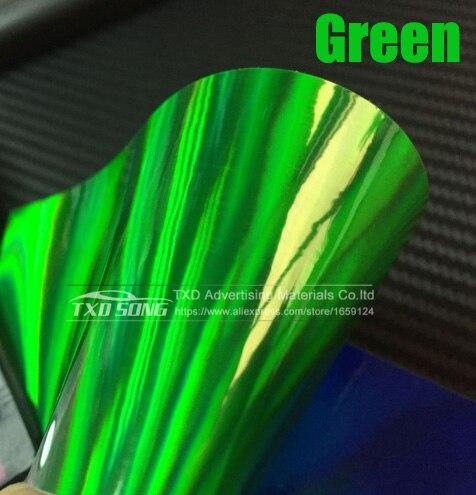 30 см X 152 см/лот голографическая Автомобильная виниловая пленка для украшения кузова автомобиля с воздушными пузырьками, автомобильная наклейка - Название цвета: Green