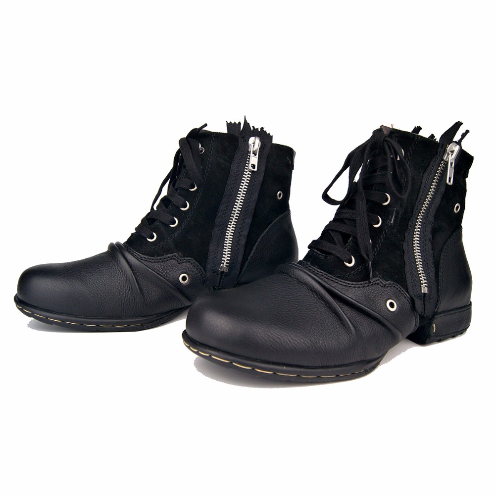 OTTO ZONE Men Boot Genuine Leather Men Shoes Handmade Ankle Boots Superstar Boots Classic Outdoor Winter Shoes Brand Shoes Boot - 6