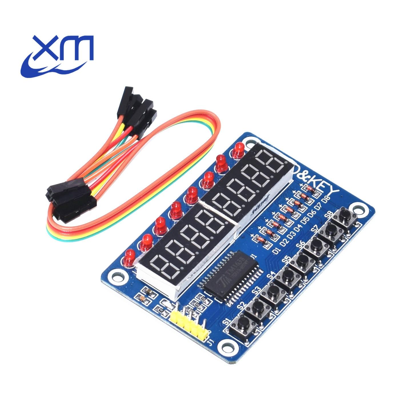 1pc Key Display New 8-Bit Digital LED Tube 8-Bit TM1638 Module D82(China)