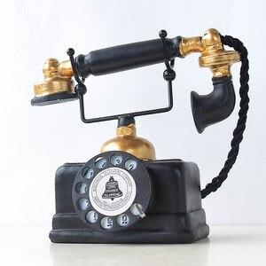 خمر الهاتف تمثال العتيقة رث القديم الهاتف تمثال ديكور المنزل UYT متجر