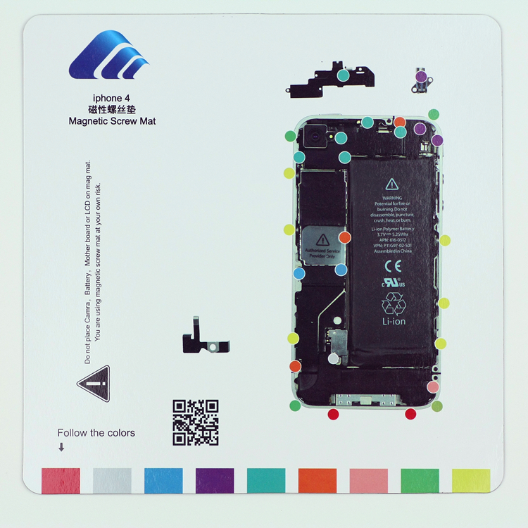 6pcs lot diy opening tool magnetic screw mat screws memory board for rh aliexpress com iphone 4 screw guide iphone 4 screw template
