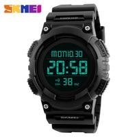 SKMEI Brand Fashion LED Digital Watch Men Countdown Sports Watches Men Double Time Chronograph Military Wristwatch