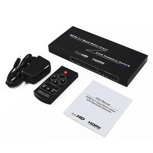 Image 5 - 4 포트 hdmi 스위치 seamless switcher 4x1 멀티 뷰어 어댑터, full hd1080p, xbox 360 ps4/3 스마트 안드로이드 hdtv 용 무료 배송