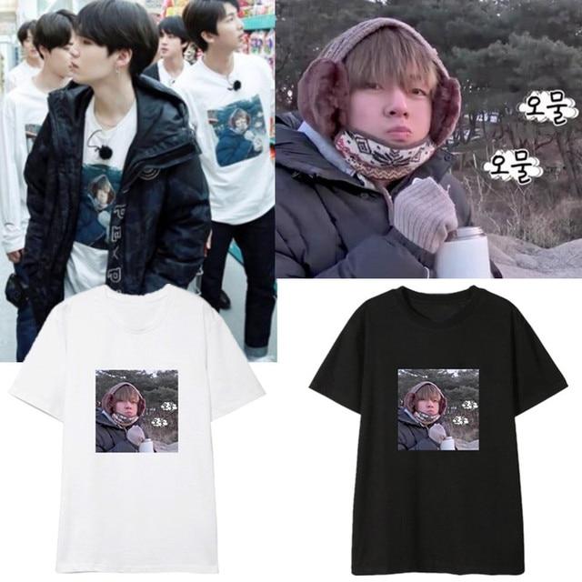 bec93c22ae Kpop Bangtan Boys BTS V Same Tshirt Summer Couple Tshirts COLD TAEHYUNG  Short Sleeve T shirt Cotton Unisex Tees Tops