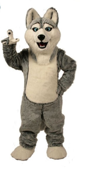 Wolf mascot costumes halloween dog mascot character holiday Head fancy party costume adult size birthday