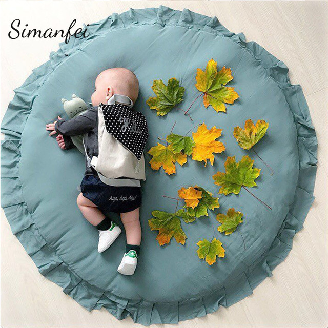 Simanfei Carpets 2018 New Flower Lace Blanket Floor Baby Play Mats Children Room Decoration Rugs