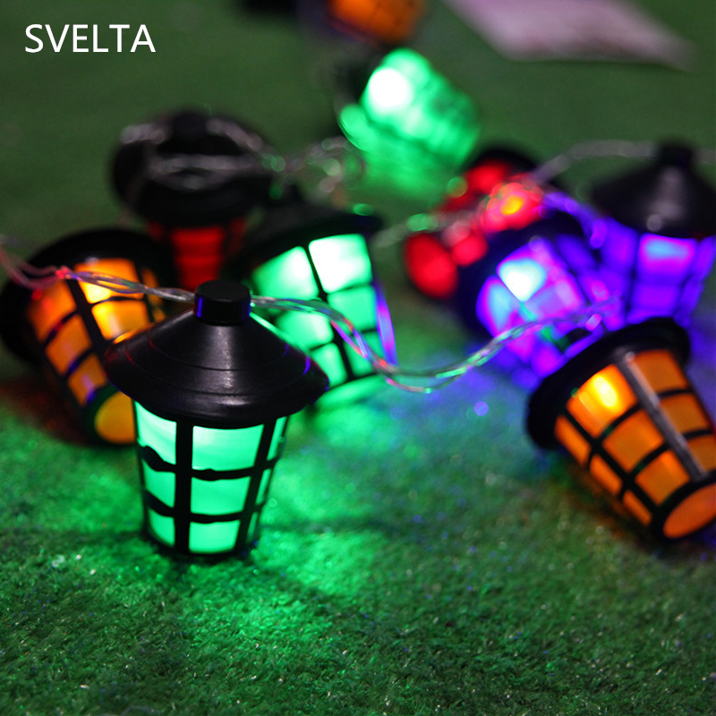 SVELTA AC 10/20 Lantern Garland LED String Light Fairy Lantern Lights Decoration For Room Christmas Holiday Party Garden Decor