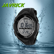 Waterproof Digital LCD Stopwatch Date Military Rubber Mens Sport wrist Watch