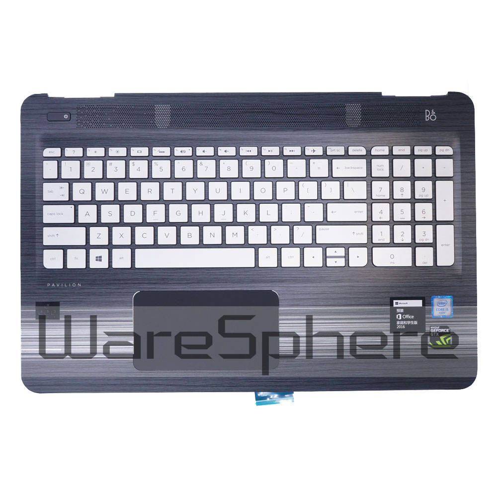 Top Cover Upper Case with Keyboard for HP Pavilion 15-AU 858971-001 Black new ru for lenovo u330p u330 russian laptop keyboard with case palmrest touchpad black