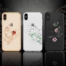 Kingxbar Diamant Beschermhoes Voor Iphone X/Xs/Xs Max Verfraaid Met Kristallen Uit Swarovski Rhinestone Case Voor iphone Xs/Max