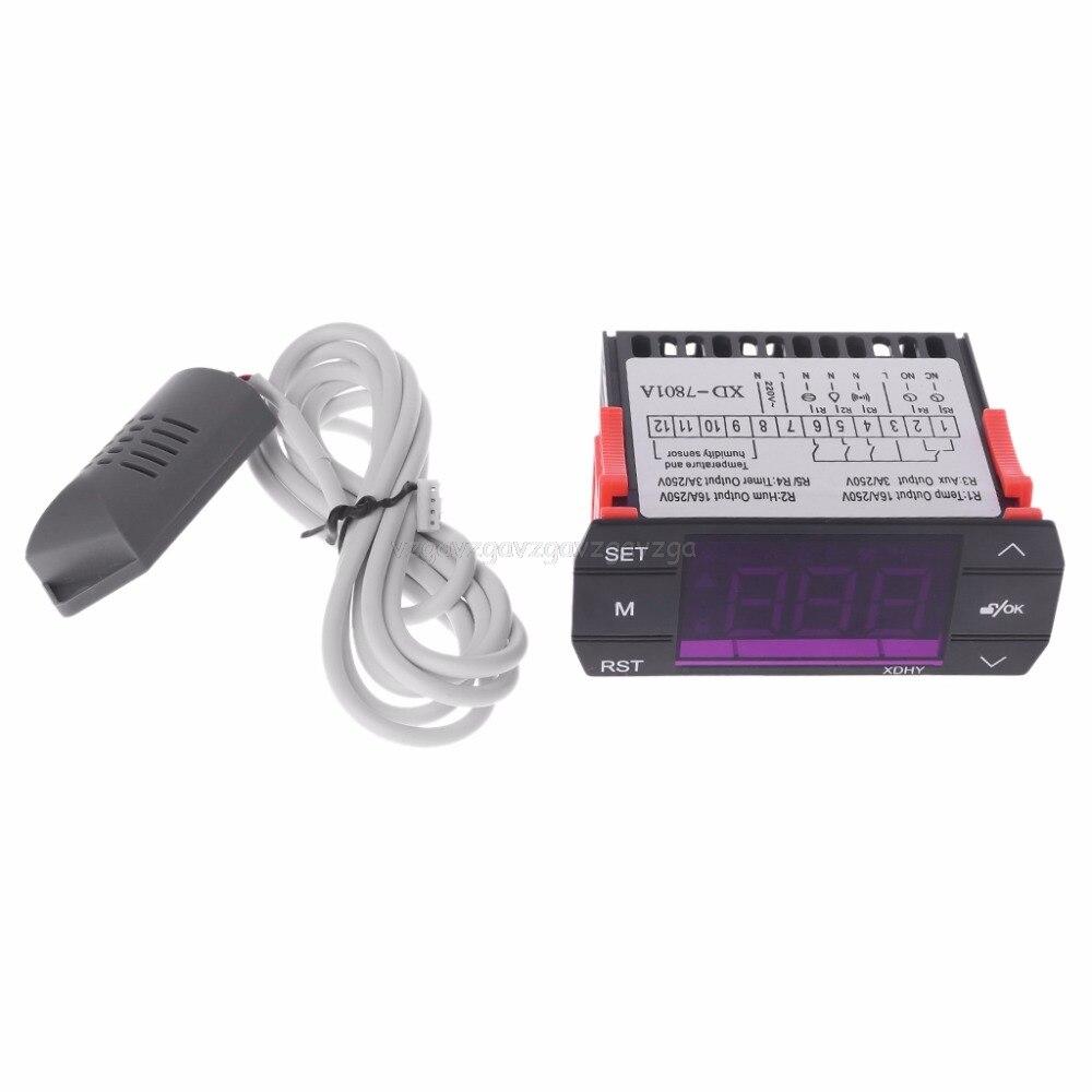 50-110℃ AIP W1209 Digital thermostat Temperatur Control Switch DC12V Sensor