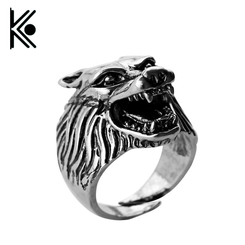 free shipping viking jewelry viking wolf ring game of thrones wolf ring slavic wolf totem punk. Black Bedroom Furniture Sets. Home Design Ideas