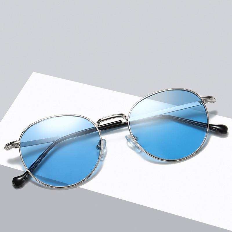 gold Grey Lens Lens Lens Lens Metallo In silver Esterni Struttura pink 201988wd Occhiali Donne Delle Lens F Uomo black Da Oculos Blue Sole Per Rotondi Vintage Gafas HwSFq4R