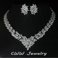 Super Luxury Bridal CZ Diamond Jewelry White Gold Plated African Design Wedding Zirconia Beads Jewelry Sets