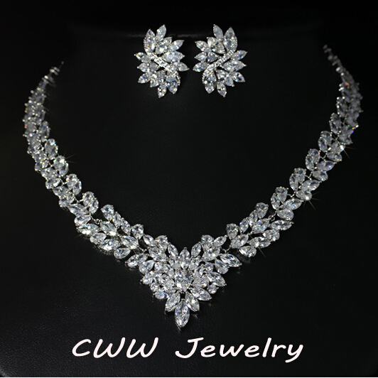 Super Luxury Bridal Cz Simulated Diamond Jewelry White Gold Plated African Wedding Zirconia Beads Jewelry Sets For Brides T146 In Jewelry Sets From Jewelry Accessories