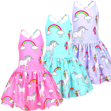 2019 Summer baby girl clothes unicorn dress sleeveless princess kids for girls vestidos 36005