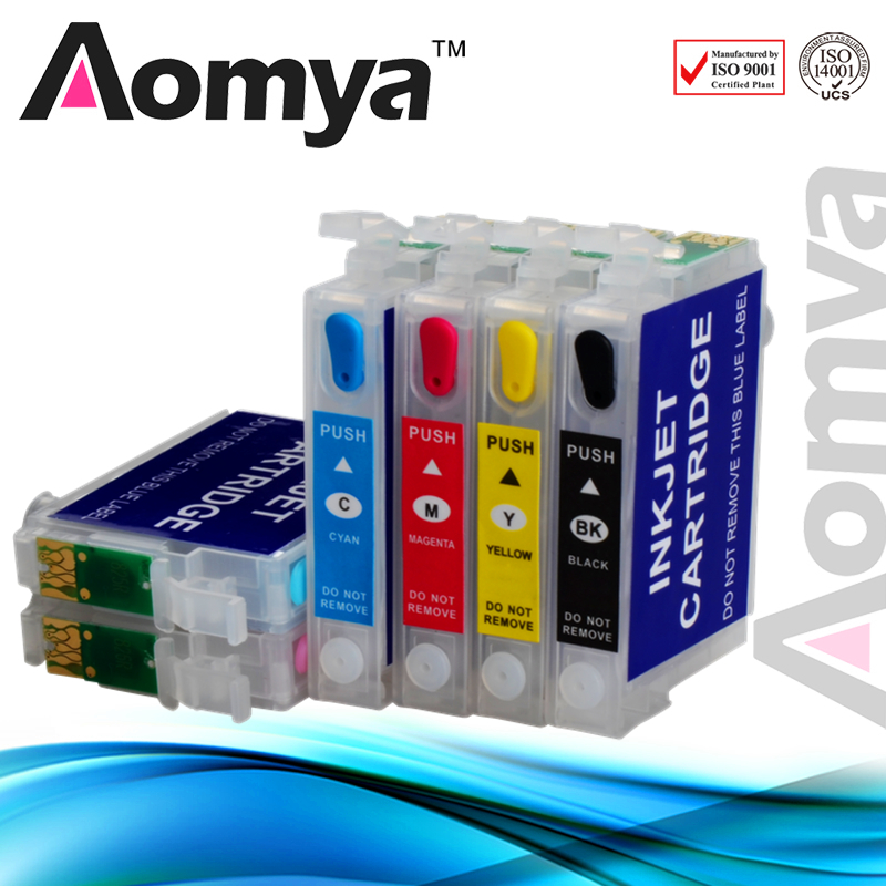 Aomya T0791 Refillable Ink Cartridge Compatible For Epson stylus Photo 1400 1500W P50 PX650 PX660 PX700W PX710FW PX720WD 850ml compatible empty refillable ink cartridge for epson stylus pro 10000 pro 10600 10000cf printers cartridge with chip t499