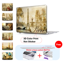 Paris Memories Laptop Matte Protective Case For Macbook Air Pro 11 13 15 Retina 13 Case For Mac book Pro 13 15 Retina Case