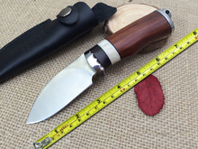 Authentic savage tribes hunting knife military knife camping survival knives Fine inlaid ebony and red deer bone handle
