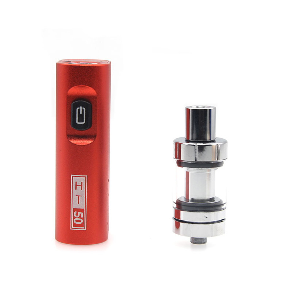 Electronic Cigarette vpe ht50 vape mod box kit 2200mah 0.5ohm battery 2ml Tank HT 50 e-cigarette atomizer vape