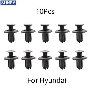 Image 1 - 10x car Auto fasteners for Hyundai Tucson Elantra Sonata solaris Santa Fe Accent i30 i20 Bumper Mudguard Fastener Fixing Clips