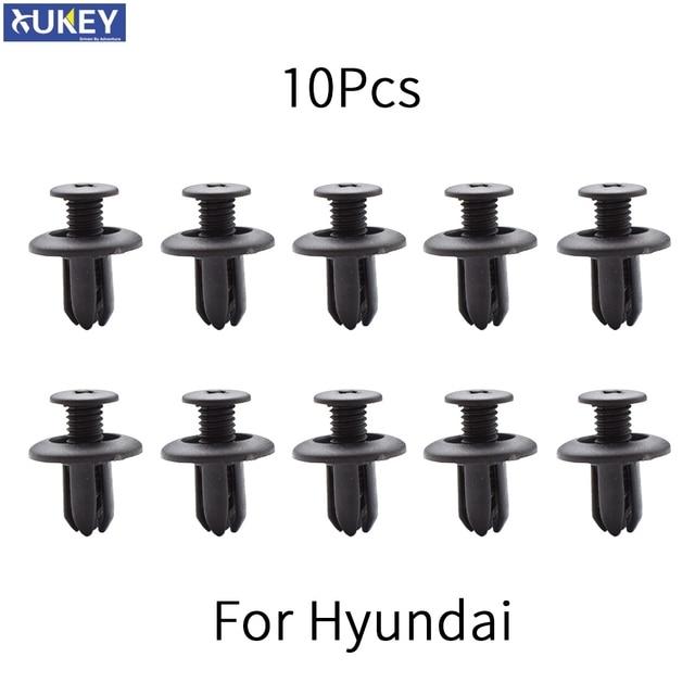 10x car Auto fasteners for Hyundai Tucson Elantra Sonata solaris Santa Fe Accent i30 i20 Bumper Mudguard Fastener Fixing Clips