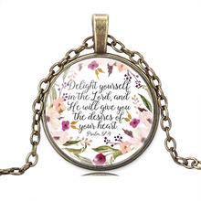 Christian Jewelry  Delight Yourself in the Lord Necklace Psalm 37:4