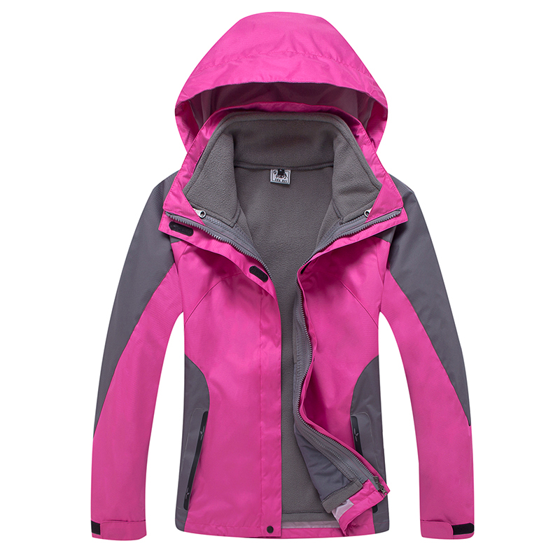 New Arrive Winter Ski Sport Outdoor Waterproof Jacket Women Hiking Climbing Trekking Coat Camping Fleece Inner Jaqueta Feminina [sa]deca taiwan progressive alliance m16 circular three way red mushroom button switch with lock d16lar3 3ab 5pcs lot