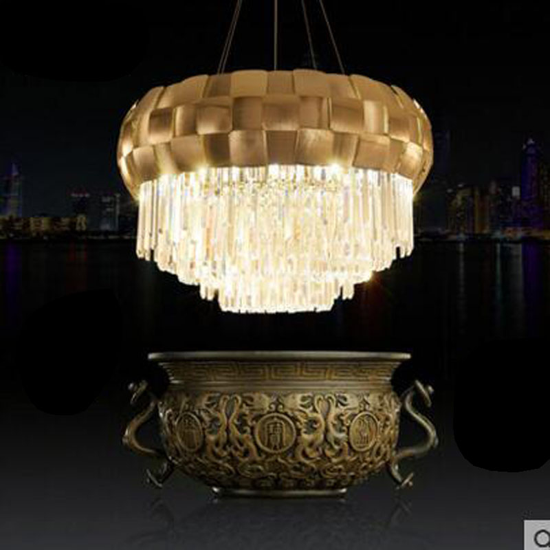 Postmodern crystal chandeliers simple dining room bedroom living room lamp creative personality Villa light luxury Nordic lamps z post modern luxury villas led chandeliers creative silver gold living room dining room study of spherical personality lamps