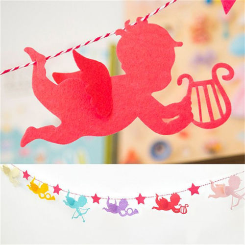 paper angle hanging bunting banner flag birthday streamers party