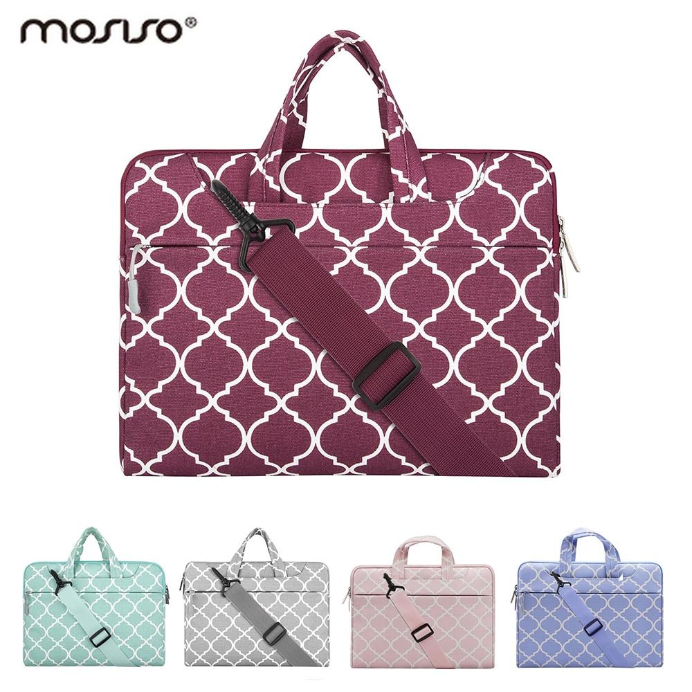 Mosiso Portable Women Laptop Case Messenger Bag for MacBook Air Pro 11 13 14 15 Notebook 11.6 13.3 15.6 inch