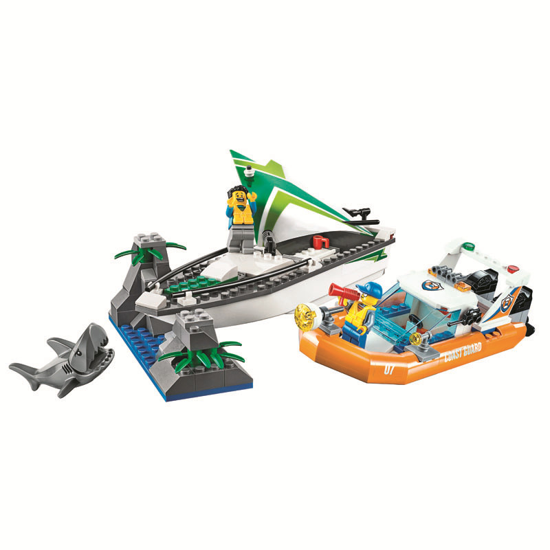 City Urban 10752 City Coast Guard Sea Sailboat Rescue Boats Building Blocks Bricks Toys Gifts for children Bela Compatible Legoe lepin 02070 492pcs city series coast guard model building blocks bricks toys for children gift