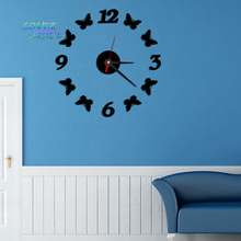 2015 New Diy Wall Clock Acrylic Clocks Quartz Watch Reloj De Pared Living Room Modern 3d Mirror Wall Stickers Horloge Home Klok