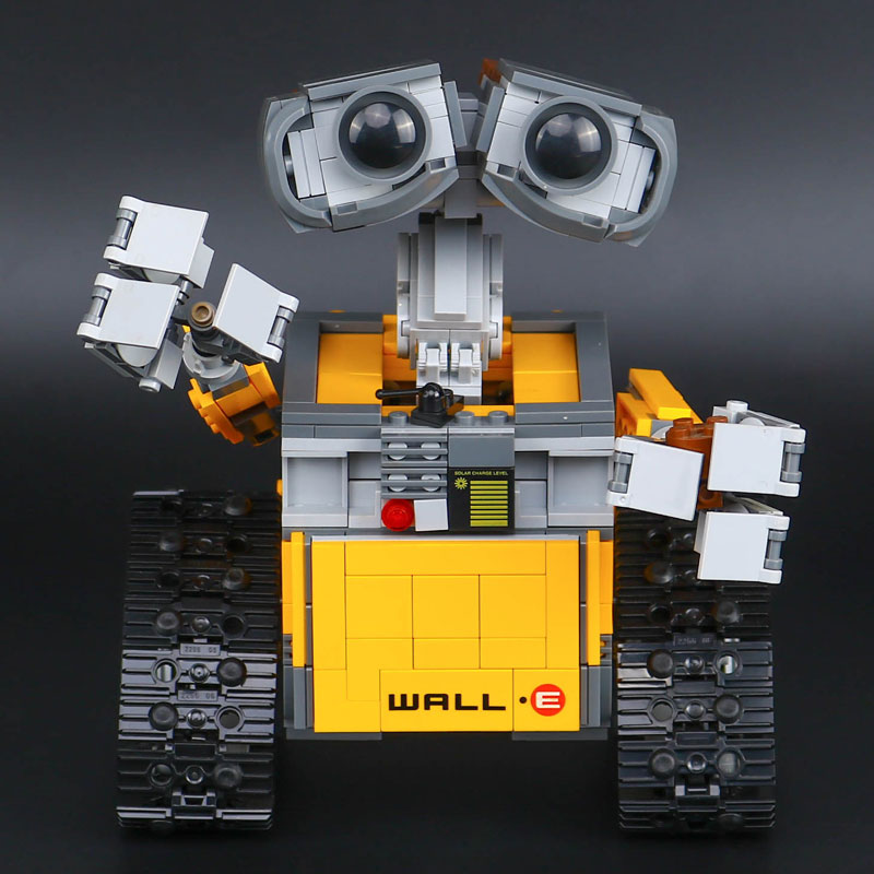 New Lepin 16003 687pcs dea Robot WALL E Building Set Kits Blocks Bringuedos Bricks Cute For Children Gifts With 21303 Model Toys new 687pcs lepin 16003 ideas series wall e lovable robot wall e building block minifigures with legoe 21303 toy kids boy