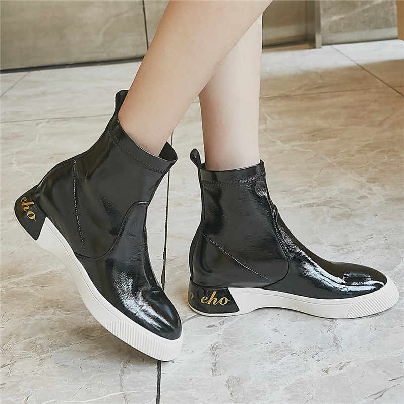 FEDONAS/осенне-зимние теплые женские ботильоны из джинсовой ткани; ботинки в западном стиле; короткие ботинки; обувь для вечеринок на очень высоком каблуке; женские ботинки «Челси»