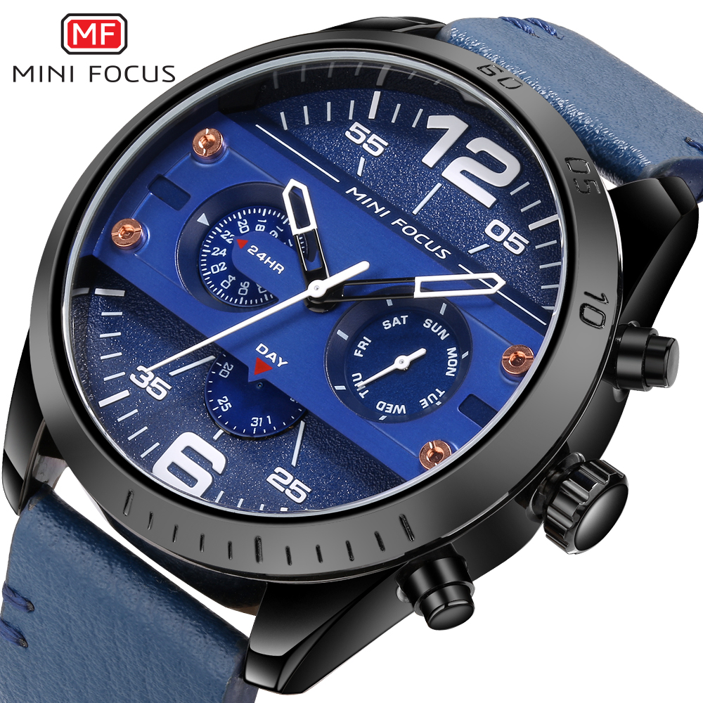 2019 Fashion Large Dial Military Quartz Men Watch Leather Sport watch High Quality Clock Wristwatch Luminous Relogio Masculino|Quartz Watches| |  - title=