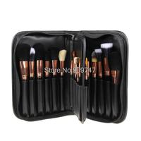 New Styling Tools 29pcs Professional Cosmetic Make Up Brushes Goat Hair Makeup Brush Set Black PU