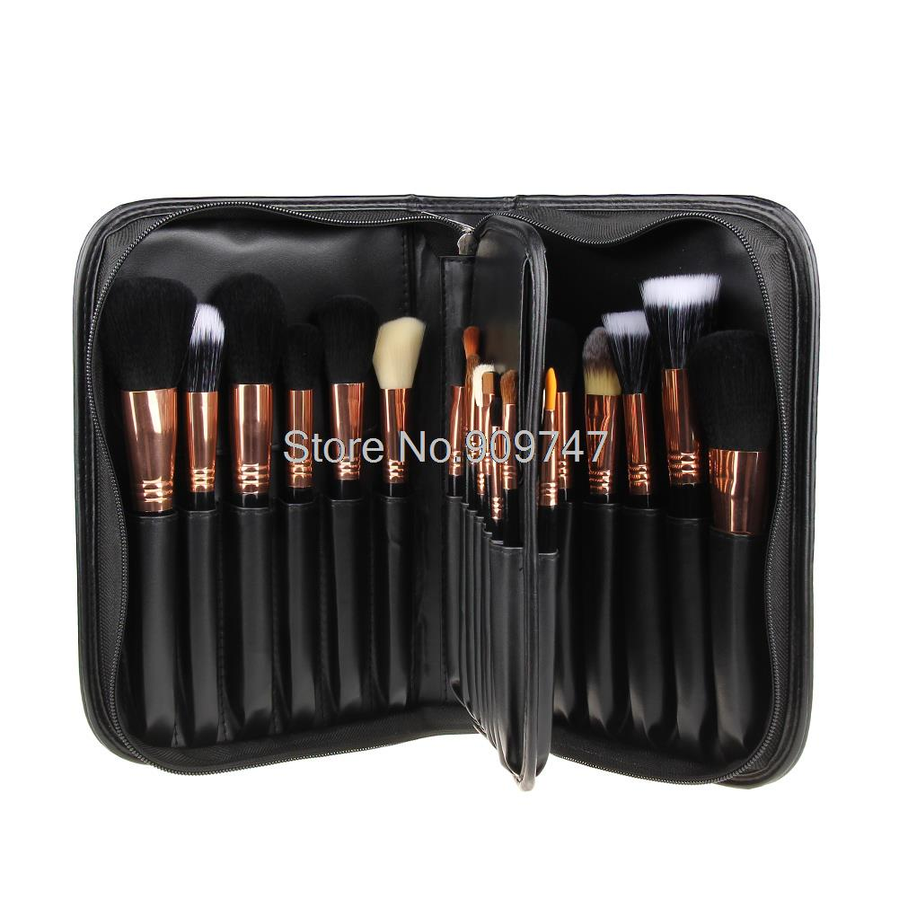 New Styling 29pcs Professional Cosmetic Make Up Brushes Goat Hair Makeup Brush Set + Black PU Bag makeup brushes tool set 29pcs professional makeup tools accessories goat hair cosmetic with black leather cosmetic case