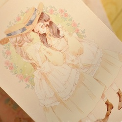 Cute 10pcs 5 style princess and her forest design memory invitation greeting cards gift christmas as.jpg 250x250