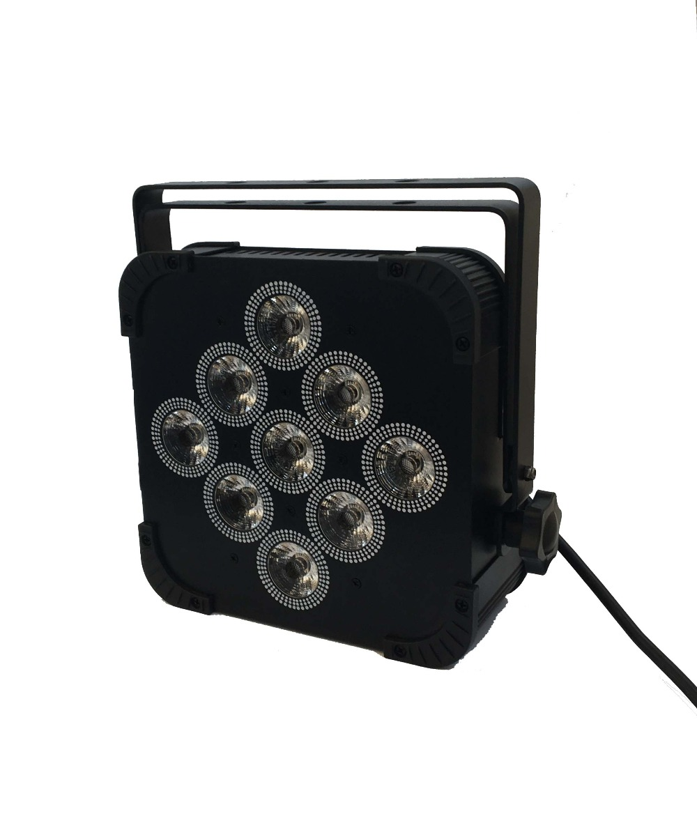 1X LOT Promotion Rasha 9pcs*18W 6in1 RGBAW UV LED Slim Par Light LED Flat Par Can For Stage Event Party Disco DMX512 Stage Light