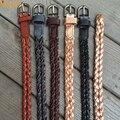Cuero genuino Hecho A Mano Para Mujer Cinturón Trenzado de Alta Calidad de Las Señoras del color sólido Trenzado Cinturón Mujer Cinturón Femenino de La Correa Ceinture PB218