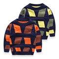 Bebé Jumper Sweaters Geométrico Diseñador Otoño Invierno Niños y Niñas de Algodón de Punto Suéter de Los Niños Ropa Para Niños Tops