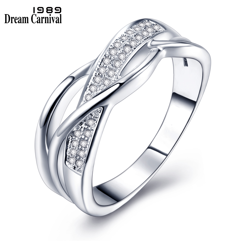 Dreamcarnival 1989 Classic Design Wedding Proposal Ring: DreamCarnival 1989 Braided Wedding Rings For Women Twisted