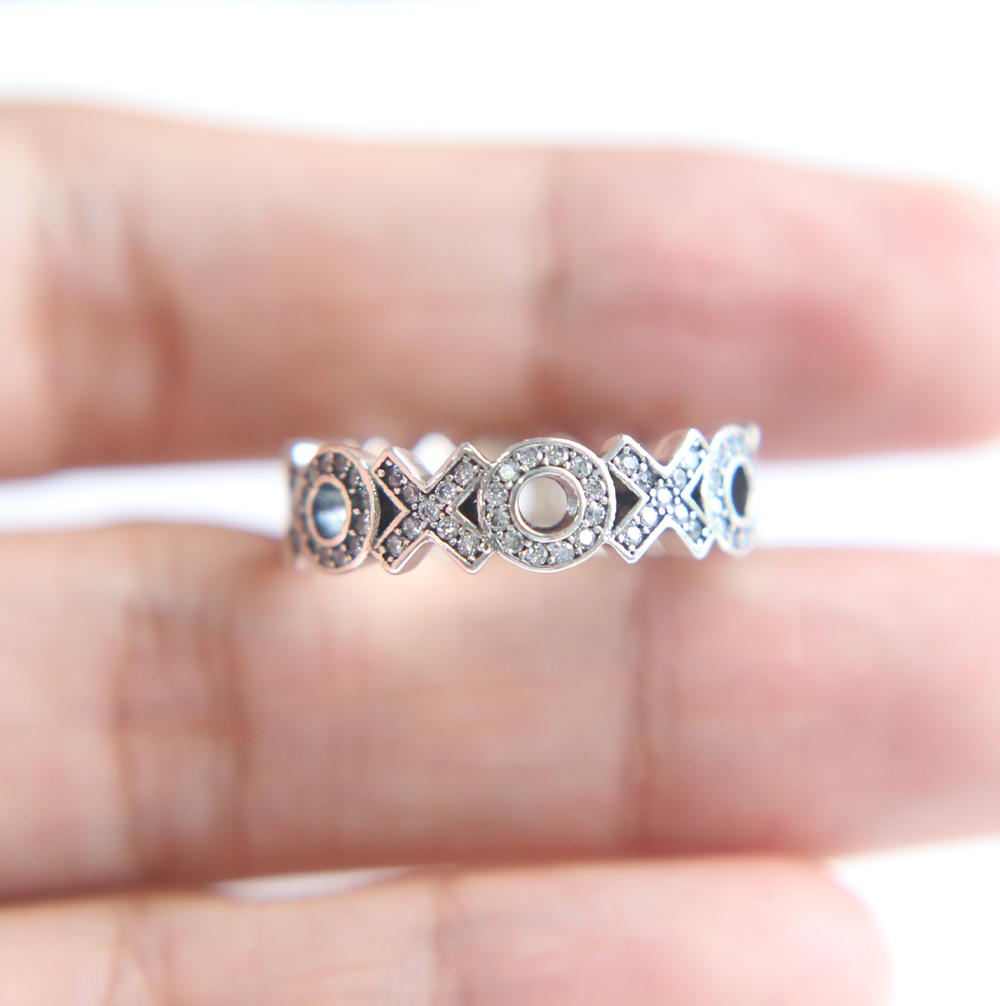 Newest Original Letter XO Ring Authentic 100% 925 Sterling Silver ...