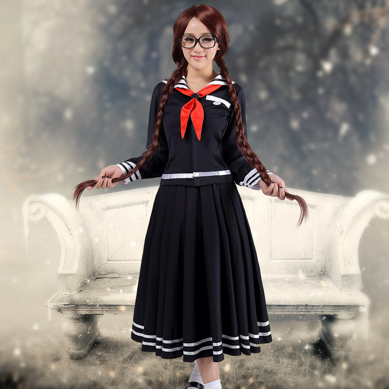 font b Anime b font Danganronpa Kusakawa Fuyuko font b cosplay b font Costume navy