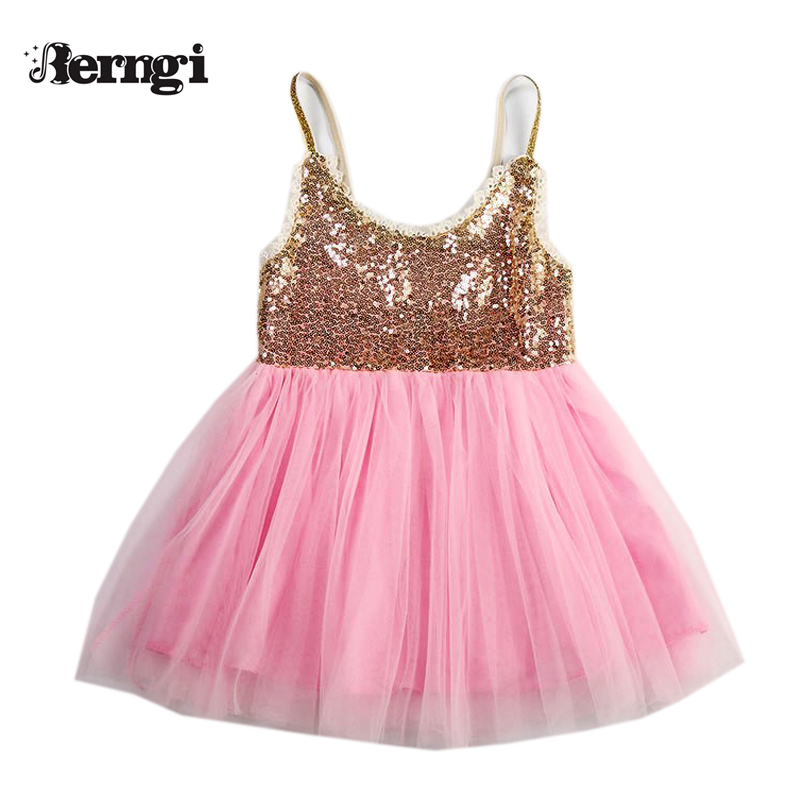 Toddler Baby Girl Dress Sequins suspenders Fashion Kids ...